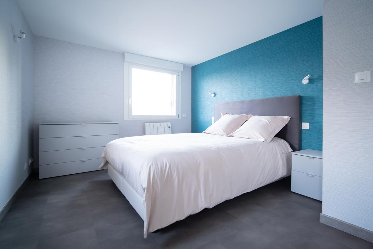 chambre bleu gite le héron